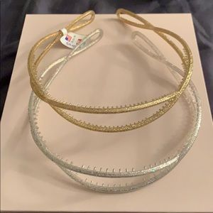 Silver and Gold head bands